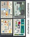 1950s mid century modern merry... | Shutterstock .eps vector #1216568446