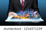 smart city concept  internet... | Shutterstock . vector #1216571239