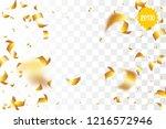 random falling golden glitter... | Shutterstock .eps vector #1216572946