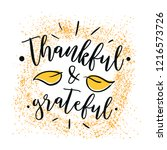 thanksgiving day. logo  text... | Shutterstock .eps vector #1216573726