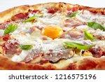 Pizza Carbonara With Bacon ...