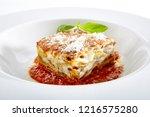 traditional homemade italian... | Shutterstock . vector #1216575280
