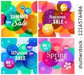 colorful four seasons sale... | Shutterstock .eps vector #1216576486