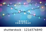 christmas illustration with... | Shutterstock .eps vector #1216576840