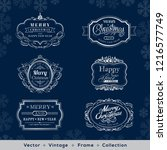 christmas and new year vintage... | Shutterstock .eps vector #1216577749