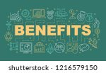 benefits word concepts banner.  ...