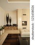 travertine house  vertical view ...   Shutterstock . vector #121658026