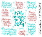 set of christmas quotes  brush... | Shutterstock .eps vector #1216584559