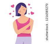 love your self body concept... | Shutterstock .eps vector #1216585270
