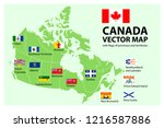 vector set. map of canada with... | Shutterstock .eps vector #1216587886