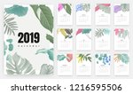 2019 calendar design  set of... | Shutterstock .eps vector #1216595506