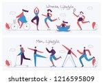 vector illustration concept... | Shutterstock .eps vector #1216595809