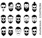 set of hairstyles for men in... | Shutterstock .eps vector #1216596286