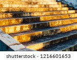 stair in the sunset | Shutterstock . vector #1216601653
