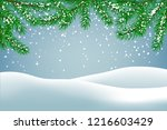 winter background with falling ... | Shutterstock .eps vector #1216603429