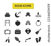 lifestyle icons set with apple  ...