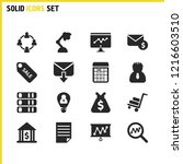 work icons set with letter...