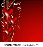 valentine's background | Shutterstock .eps vector #121661074