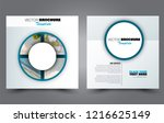 square flyer template. simple...   Shutterstock .eps vector #1216625149