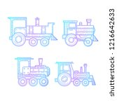 steam locomotive icons  vector | Shutterstock .eps vector #1216642633