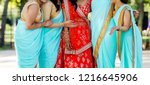 joyful moment of indian bride... | Shutterstock . vector #1216645906