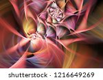 Abstract Exotic Flower. Close...