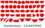 red speech bubbles  empty sale... | Shutterstock .eps vector #1216654960