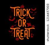 happy halloween  halloween ... | Shutterstock .eps vector #1216657003