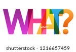 what  rainbow letters banner | Shutterstock .eps vector #1216657459
