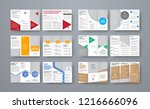 set of vector trifold brochures ... | Shutterstock .eps vector #1216666096