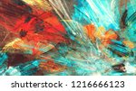 bright artistic splashes.... | Shutterstock . vector #1216666123