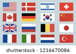 Set Of World Flags Icons. Usa ...
