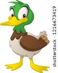 Cartoon Cute Duck. Vector...