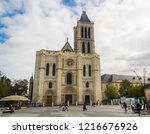Small photo of PARIS, FRANCE - 02 OCTOBER 2018:The Saint Denis cathedral.