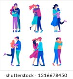 vector people character.... | Shutterstock .eps vector #1216678450