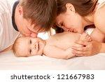 Happy Family Concept. Parents...
