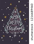 a very merry christmas to you...   Shutterstock .eps vector #1216689460