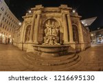 the albrecht fountain at... | Shutterstock . vector #1216695130