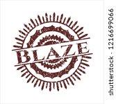 red blaze distressed rubber... | Shutterstock .eps vector #1216699066