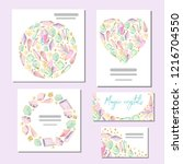 set of vector templates with... | Shutterstock .eps vector #1216704550