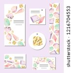 set of vector templates with... | Shutterstock .eps vector #1216704553