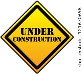 under construction sign on a... | Shutterstock .eps vector #121670698