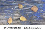 the old blue wood texture with... | Shutterstock . vector #1216721230