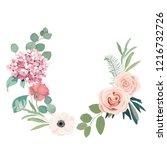 frame border background. floral ... | Shutterstock .eps vector #1216732726