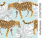 tropical leopard animal ... | Shutterstock .eps vector #1216732930