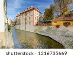 prague  mala strana district  ... | Shutterstock . vector #1216735669