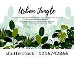 urban jungle banner. home... | Shutterstock .eps vector #1216742866