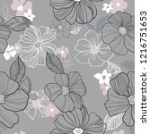 botanical seamless pattern...   Shutterstock .eps vector #1216751653