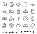medical line icons. set of... | Shutterstock .eps vector #1216752319