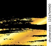 golden artistic grunge brush... | Shutterstock .eps vector #1216764400